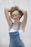 De zomervrouw Stock Afbeeldingen