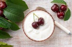 De zomervruchten met Griekse yoghurt Royalty-vrije Stock Foto
