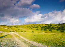 De zomerweg Stock Foto