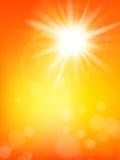 De zomerzon met lensgloed die is gebarsten Eps 10 Stock Afbeelding