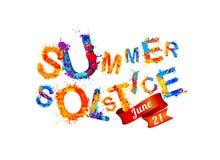 De zomerzonnestilstand 21 juni vector illustratie