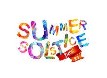 De zomerzonnestilstand 21 juni royalty-vrije illustratie