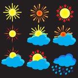 De-zon Stock Afbeeldingen