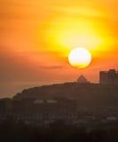 ` De zon is alleen maar het is nog glanst ` Royalty-vrije Stock Foto
