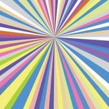 De zon barstte de Geometrische Abstracte van de de Stralenstreep van de Spectrumregenboog Achtergrond Template_47 royalty-vrije illustratie