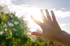 De zon blind met dient de hete zomer in - verwarm concept royalty-vrije stock afbeeldingen