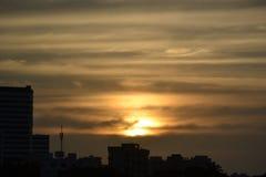 De zon daalt Stock Foto