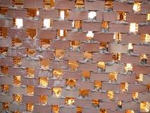 De zon die door bricked omhoog venster glanzen Royalty-vrije Stock Foto