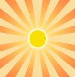 De Zon die van de zomer langzaam plaatst Stock Fotografie