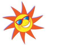 De Zon die van de zomer Zonnebril draagt Stock Foto