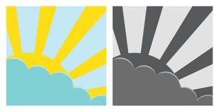 De zon en de hemel Stock Foto