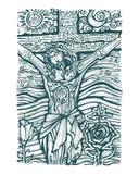 De zon en de maan van Jesus Royalty-vrije Stock Foto