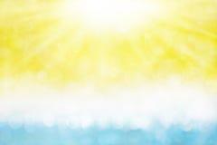De Zon en het Overzees van de zomer Royalty-vrije Stock Afbeelding