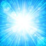 De zon fonkelde vector illustratie