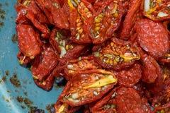 In de zon gedroogde tomaten Stock Fotografie