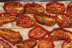In de zon gedroogde tomaten Royalty-vrije Stock Foto's