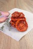 In de zon gedroogde tomaten Stock Afbeeldingen