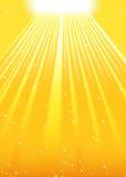 De zon glanst Royalty-vrije Stock Afbeeldingen