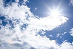 De zon glanst in nadruk royalty-vrije stock fotografie
