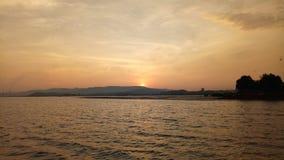 De zon heft op Stock Fotografie