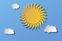 De zon in de hemel en de kleine wolken Eps 10 stock illustratie