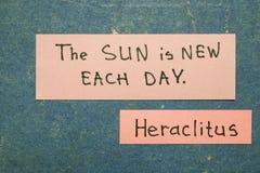 De zon is nieuw Stock Foto's