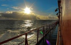 De zon over het overzees Stock Foto's