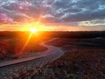 De zon plaatst Zal het stormen? Royalty-vrije Stock Foto's
