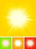 De Zon Starburst van de zomer Royalty-vrije Stock Afbeeldingen