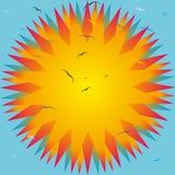 De Zon van Birds_ and_ Stock Afbeeldingen