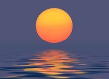 De Zon van de avond Stock Illustratie