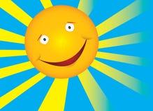 De zon van de glimlach royalty-vrije illustratie