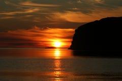 De zon van de middernacht Royalty-vrije Stock Afbeelding