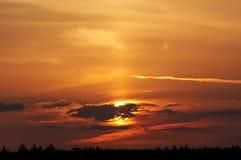 De zon van de ochtend royalty-vrije stock fotografie
