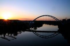 De zon van de ochtend op het Cumberland stock fotografie