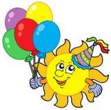 De zon van de partij met ballons Royalty-vrije Stock Afbeeldingen