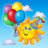 De zon van de partij op hemel vector illustratie