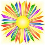 De zon van de regenboog Stock Afbeelding