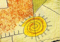 De zon van de textuur stock illustratie