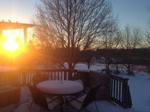 De zon van de winter Stock Afbeelding