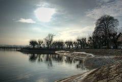 De zon van de winter Stock Foto's