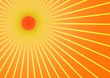 De zon van de zomer Stock Foto