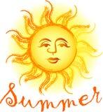 De Zon van de zomer royalty-vrije illustratie