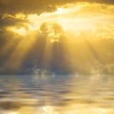 De zon van de zonsondergang Royalty-vrije Stock Afbeeldingen