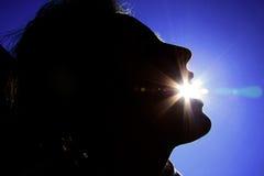 De zon van Gorged Stock Foto's