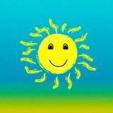 de zon van het de zomerlandschap en duidelijke hemel met een overzees of een oceaan Royalty-vrije Stock Fotografie