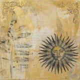 De zon van het kunstwerk Royalty-vrije Stock Afbeelding