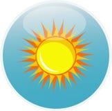 De zon van het pictogram Stock Afbeelding