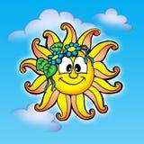 De zon van Smilling Royalty-vrije Stock Afbeeldingen