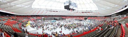 De Zon van Vancouver stelt Festiviteitenbinnenkant in werking BC plaatst Royalty-vrije Stock Foto's